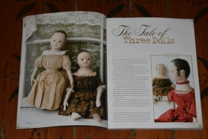 My article about Charlcie, Savannah and Susie Belle appears on pages 6, 7, 8 & 9 in the latest issue of Prims.