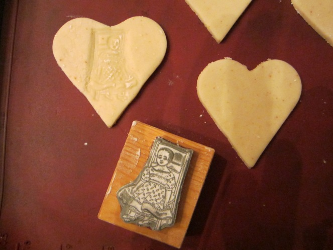 embossing shortbread with izannah walker doll stamp izannahwalker.com
