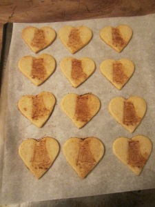 Little Izzys add an extra helping of sweetness to these Valentine cookies.