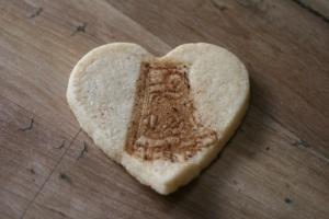 Izannah Heart Shortbread cookies izannahwalker.com