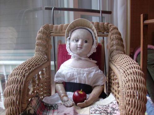 One of the members of my Izannah Walker Reproduction Dollmaking Class was kind enough to share photographs of her 16 inch antique Izannah with the class.