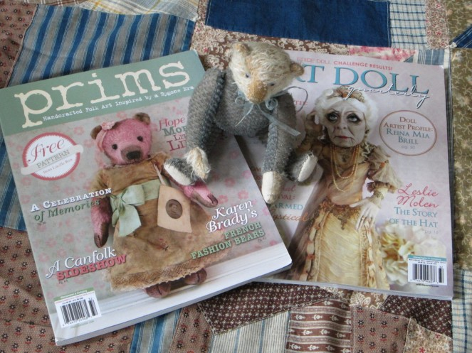 Read my latest article in the Summer 2013 issue of Prims magazine and looks for my ads in Prims and Art Doll Quarterly.