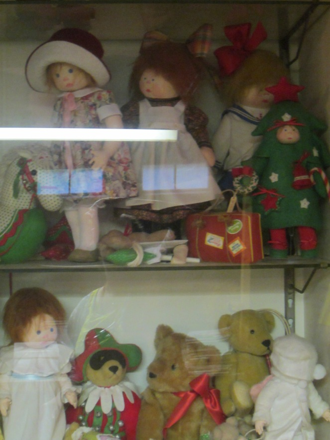 More of Rainie Crawford's original prototypes cloth dolls and bears, soon to be offered for sale.