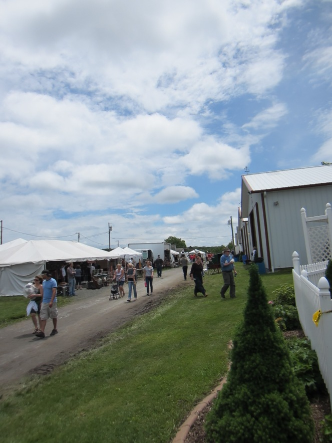 The fair grounds in Harwinton, CT.  Home of the twice a yearly Antique and Design Weekend.