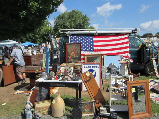 Sunday at the Elephant's Trunk Flea Market.