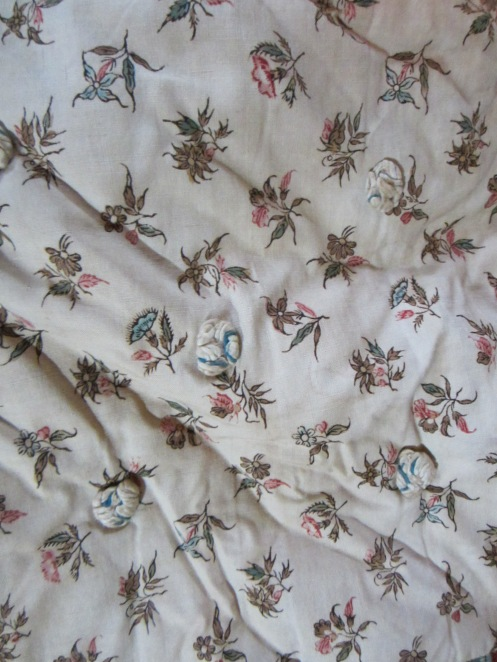Another very early antique chintz fabric.