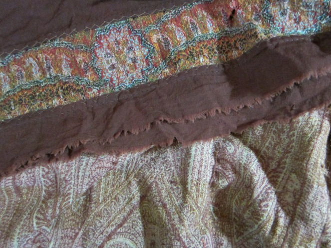 Well worn antique wool shawls, destined to become doll clothing for a special doll.