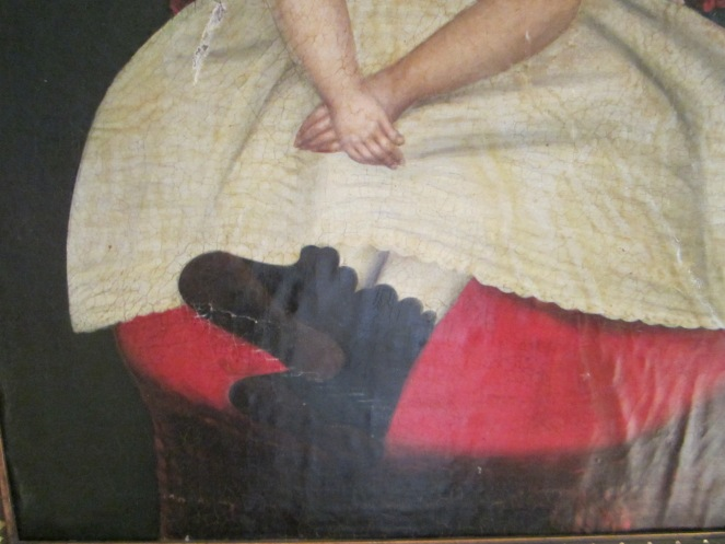 Another style of boots that Izannah Walker painted on her dolls were scallop top, side button boots like these, shown in a c.1870-1880's portrait.