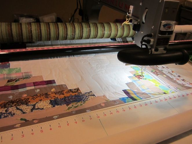 What does a doll maker do for fun?  If the doll maker is me, the answer is quilt!