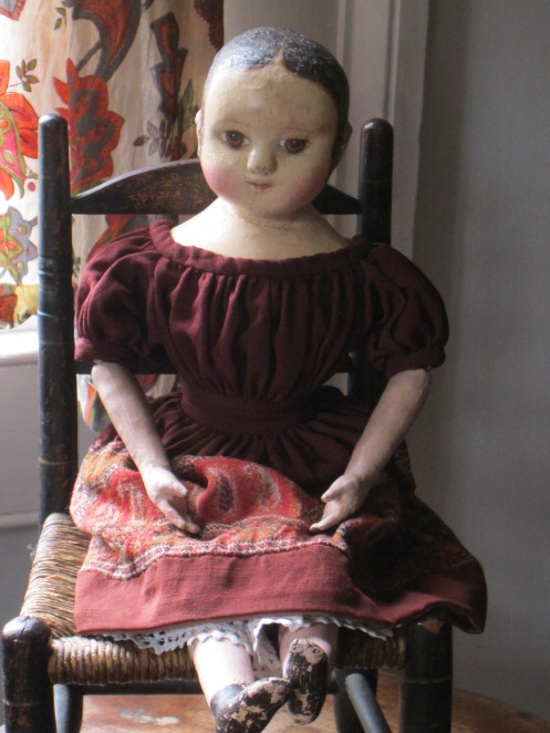 antique Izannah Walker doll from the collection of Paula Walton www.izannahwalker.com
