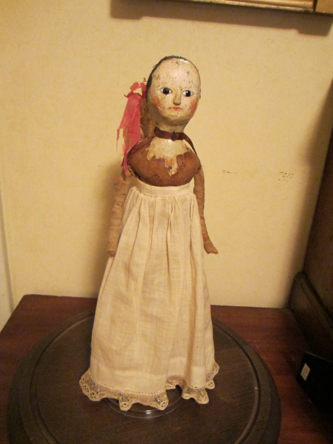 This doll belongs to my friend Rainy Crawford.  The doll was passed down through a New Milford, Connecticut family.  See how she compares with my doll.