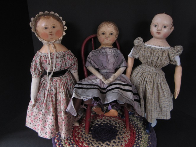 Sophie and Mae have the same bodies as my Izannah Walker dolls, so all the girls can share clothes.