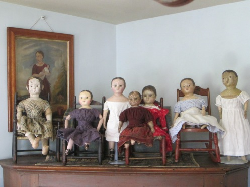 My dolls, plus their new found relatives!