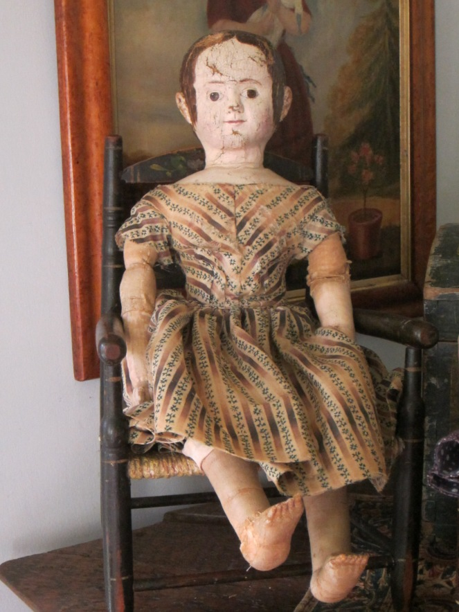 Very early and very wonderful Izannah Walker doll.