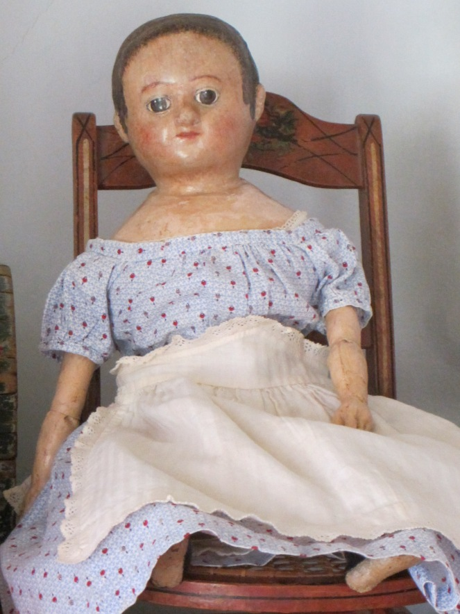 A charming 18 inch Izannah Walker doll.