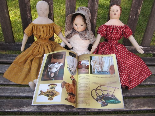 My newest dolls get lots of tips from their older cousin about posing for Early American Life!