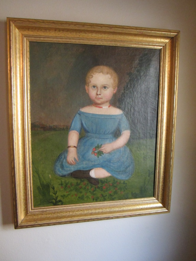 Edyth's husband bought her this wonderful portrait because it looks like a Martha Chase doll.