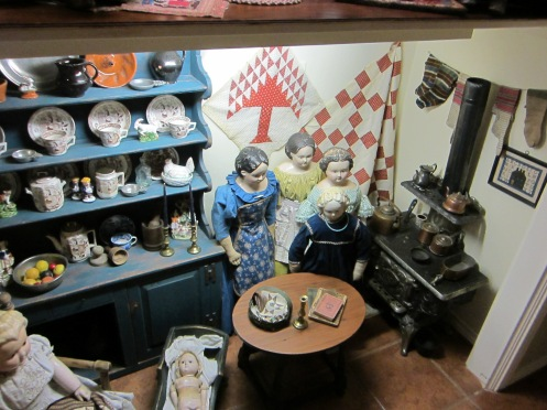 The lower level of Edyth's doll house.