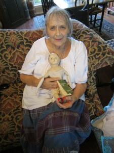 After checking in to our own personal B&B we went to visit my friend Edyth O'Neil and deliver the doll she bought from me on Saturday at the convention.