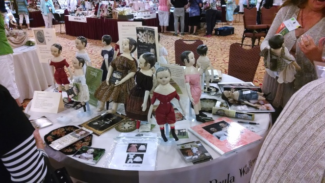 This is my table in the Artist's Showcase section of the salesroom at the convention.