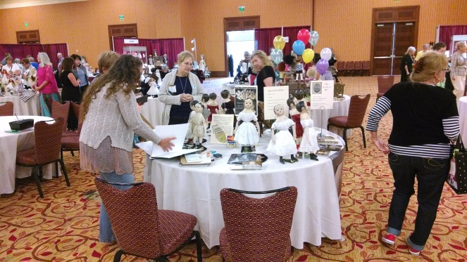 my table at 2014 United Federation of Doll Clubs Convention www.izannahwalker.com