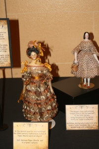 Papier-mache dolls at the 2014 UFDC convention competitive exhibit.