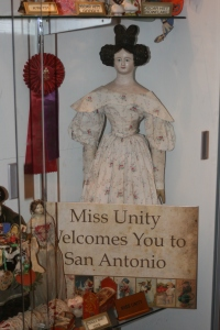 The UFDC's Miss Unity on display in the special exhibits at the 2014 convention.