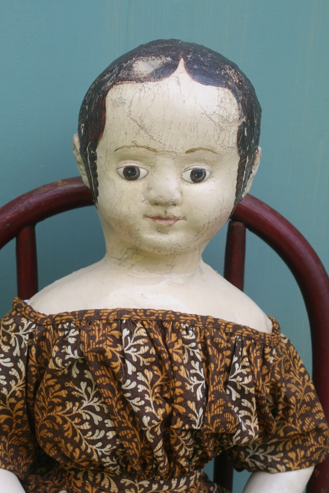 This is a very accurate reproduction of the paint surface found on the original doll.