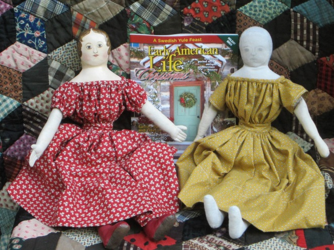 Paula Walton's rag dolls from Christmas 2014 issue of Early American Life www.izannahwalker.com