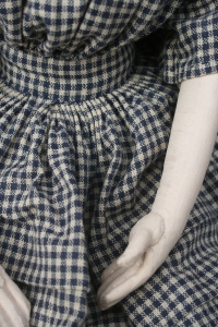 Izzybelle's dress is completely hand sewn with a cartridge pleated skirt.