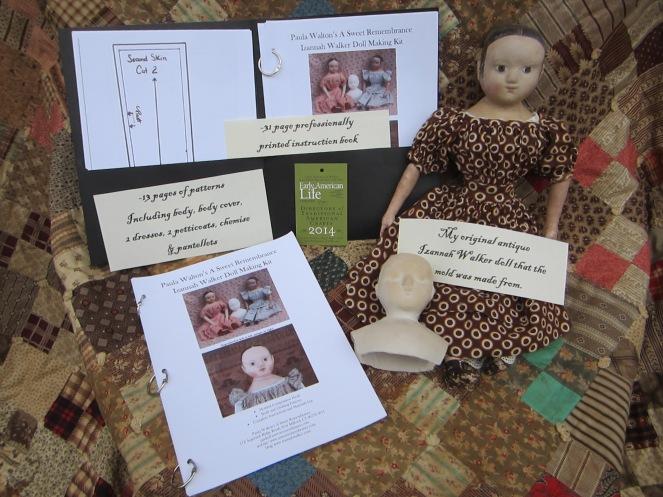 Izannah Walker doll kit www.izannahwalker.com