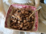 Black eyed peas for good luck in the coming year!