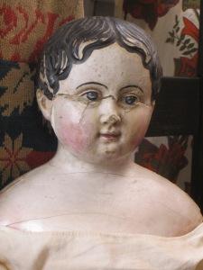 conserving an antique papier-mache doll www.izannahwalker.com