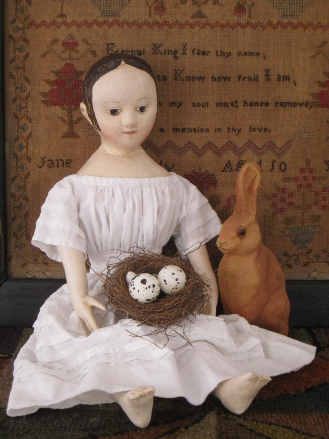 """Bunny do you think the eggs will hatch in time for Easter?"""