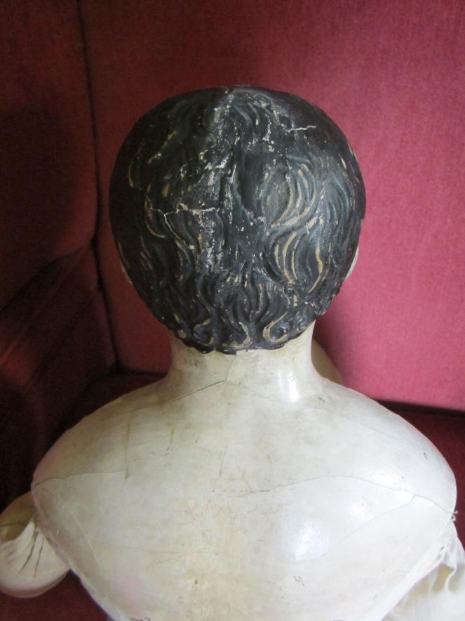 restored large papier-mache doll www.izannahwalker.com
