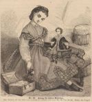 girl with doll and trunk