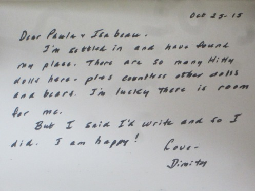 www.izannahwalker.com a letter from Dimity