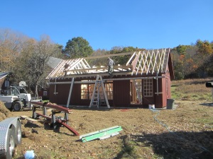 The roof is going up.