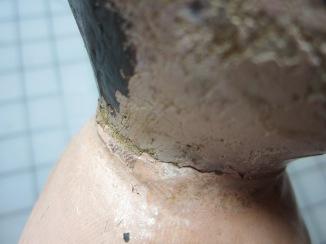 Close-up of neck edge.