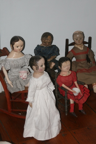 Lily joined in all of the doll's adventures in between restoration sessions in my studio.