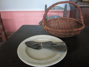 A girl can never have too many spoons in her kitchen! And who could do without an ironstone plate and a gathering basket for trips out to the gardens?