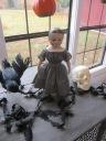 Isabeau is modeling dress #1