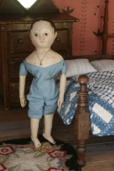 Izzybelle's second skin is made from pale blue antique linen.