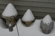 """Snow """"Mushrooms"""""""