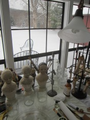A clean, peaceful view out my painting studio window.
