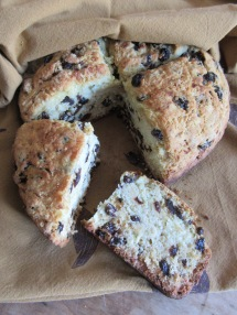 Irish Soda Bread with raisins.