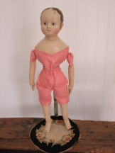 "This Emmaline has a peach colored vintage glazed cotton ""2nd"" skin."