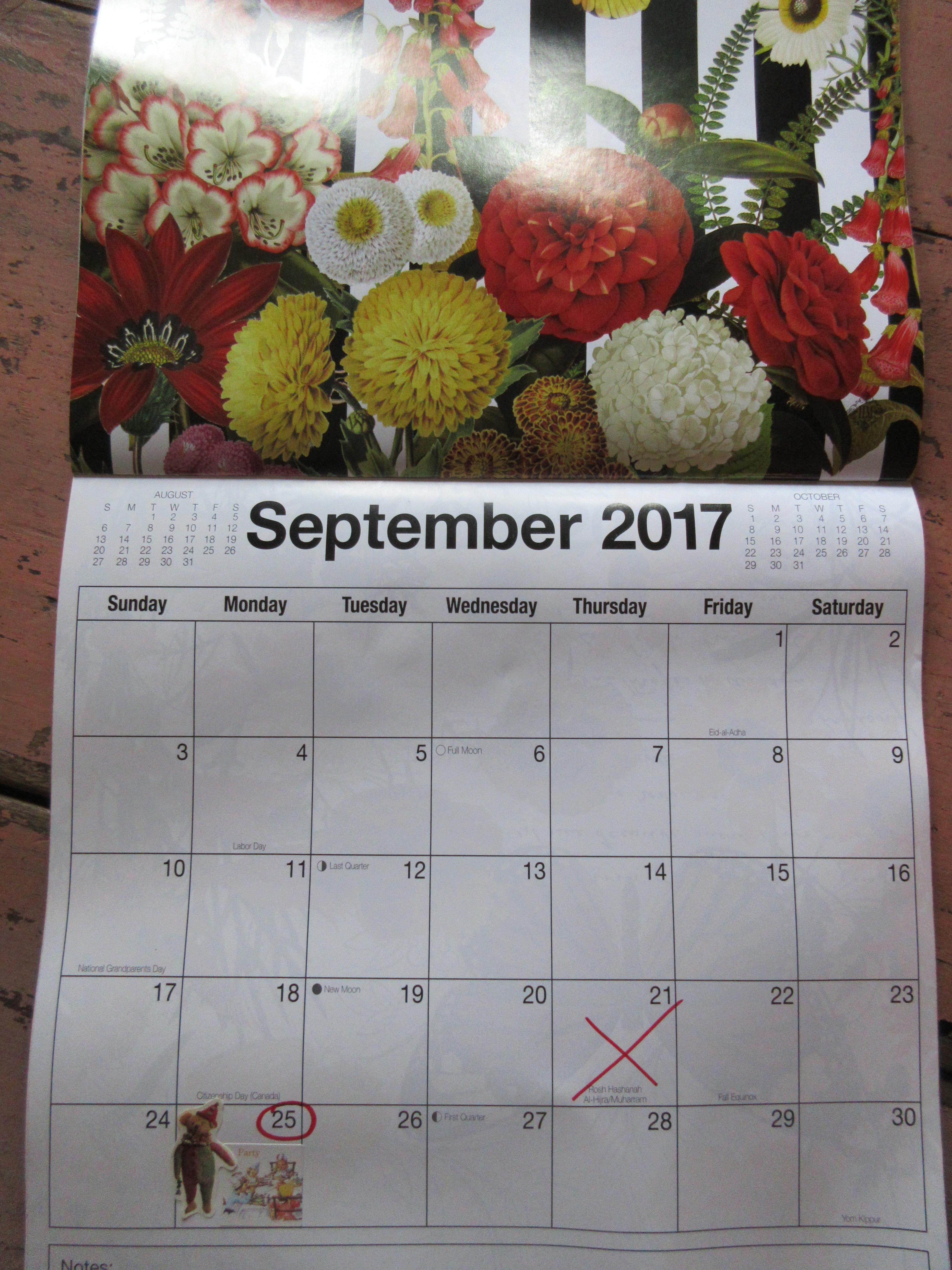 No Third Thursday in September