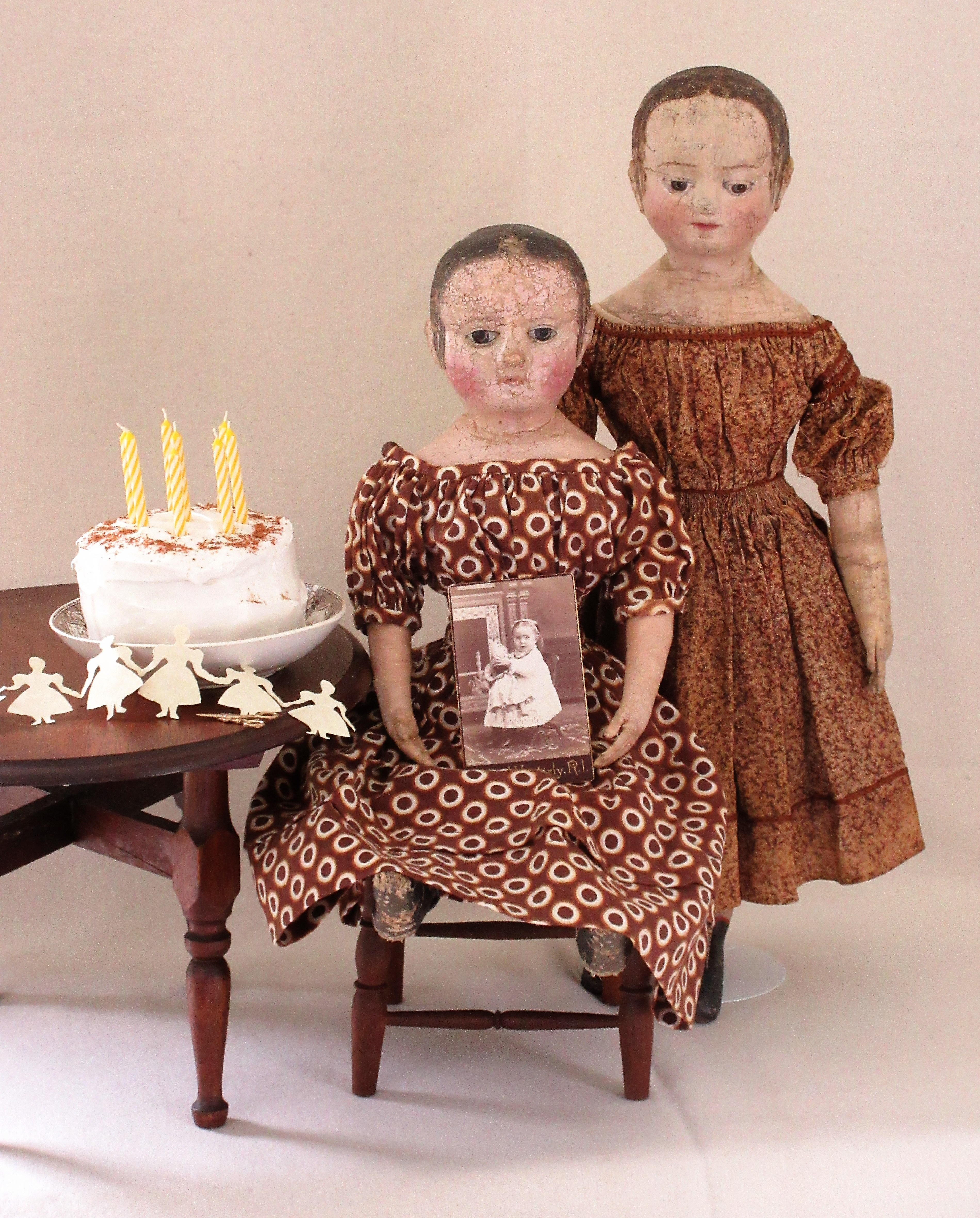Izannah Walker dolls from the Paula Walton collection.