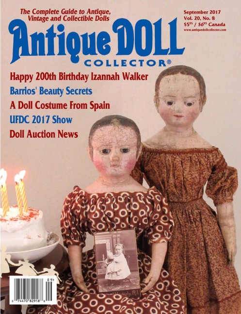 September 2017 Antique Doll Collector Cover